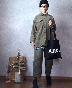 しまむらコーデュロイジャケット重ねてみどりのおばちゃん再び💧●今日のスタイル●しまむら・アベイル・A.P.C.・ゴーシュ・GUなど