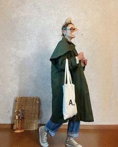 フロックコートを着てみたよ👀❕❕な●今日のスタイル●しまむら・アベイル・UNIQLO・GU・A.P.C.・converseなど