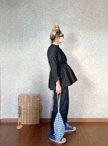 ダイソーで買ったモノとカシュクールクロイロ装着な●今日のスタイル●しまむら・アベイル・GU・SO・DAISOなど