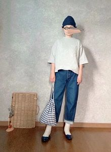 DAISOさんの巾着をイロチ買い💧な●今日のスタイル●しまむら・アベイル・GU・DAISOなど
