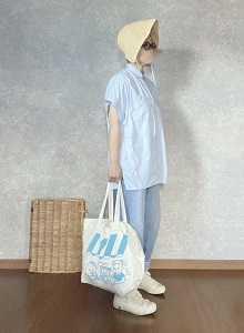 青色ばっかりだなって・・・●今日のスタイル●しまむら・アベイル・GU・セレブレザー・シューズライクポタリーなど