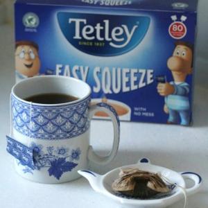 楽しいティーバッグ♪ TETLEY  EASY SQUEEZE  ♡