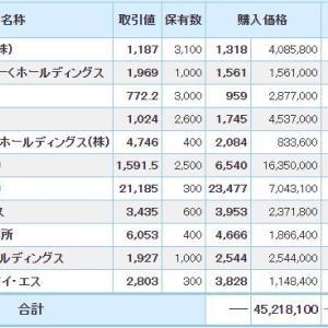 マイナス1027万円_| ̄|●
