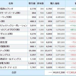 マイナス6328万円_| ̄|●