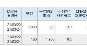 Zホールディングス新規買いと日本製鉄損切2021その伍