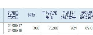 バルミューダ300株全売却