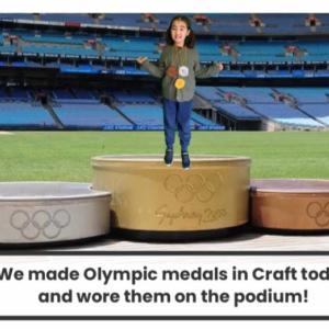 オリンピックメダルと家組