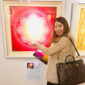 綾小路先生のスピリチュアルアート個展に行ってきました♪