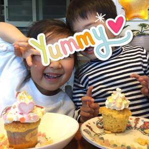 カップケーキ作りをしたよー!!