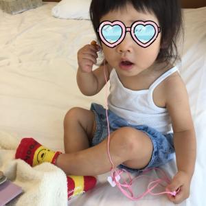 【1歳5か月】被り物が好きな次女