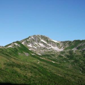 北アルプス・折立から新穂高への縦走(5) 黒部五郎小舎から三俣蓮華岳へ