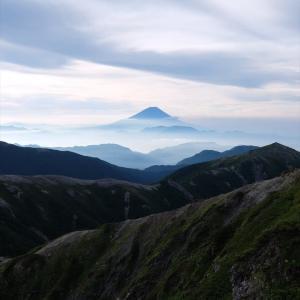 南アルプス・塩見岳(4)