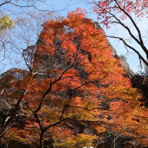 妙義山 紅葉の石門めぐりと中間道(1)