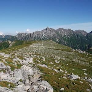 北アルプス 槍ヶ岳から笠ヶ岳へ(1) 上高地から徳沢まで