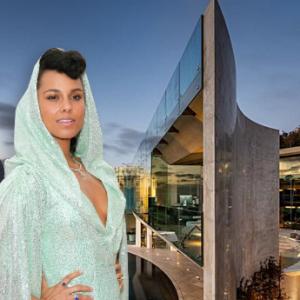 ため息出まくり!【セレブの豪邸】アリシア・キーズ、カリフォルニアの絶壁にそびえ立つ、23億円の豪邸がパネェ件