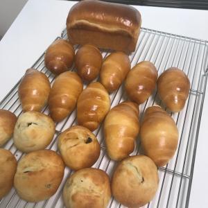 湯種レーズン食パン・バターロール・チーズサブレ・黒ゴマ