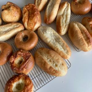 先月の湯種食パンとベーグルとか