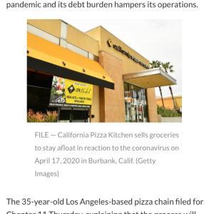 どうなる!!California Pizza Kitchen とChuck E Cheese
