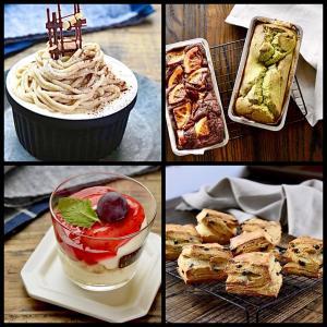 【お菓子作り】#レアチーズ#モンブラン#スコーン#ムース#クッキー#パウンドケーキ