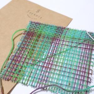 少ない糸でステキんぐコースターが織れちゃう!square コースタープレートのご紹介!