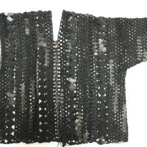 ハマナカ・アンダルシアネオのカーディガン(8):お袖片一方付きました