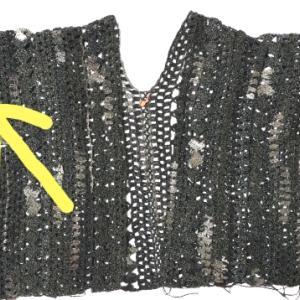 ハマナカ・アンダルシアネオのカーディガン(9):右袖半分編めました
