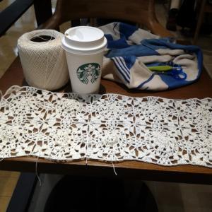 レース糸でモチーフ編み!キーボードカバー(2):本体完成!