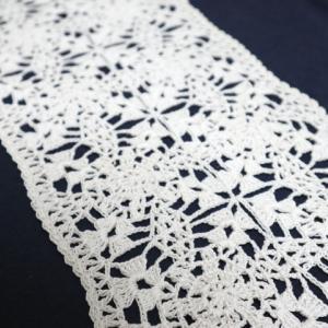 【完成】レース糸でモチーフ編み!キーボードカバー