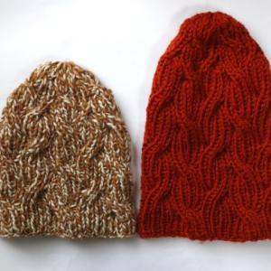 リベンジ☆ケーブルニット帽(2):一応編みあがりました
