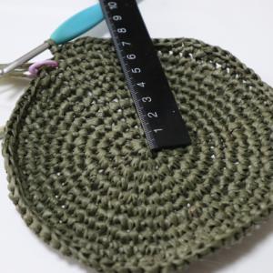 リーフィーのリーフ柄夏帽子(1):バラけない、リーフィーの引き出し方