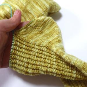 黄色いくつ下(8):やっとこすっとこ「マチ」完成