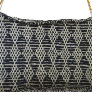 ダイヤ模様のベスト(5) :袖ぐりの減らし目が編めました&編み方解説すますよ~