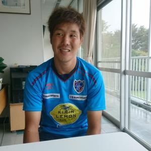 先日、小平グランドで三田選手にインタビューしてきました!