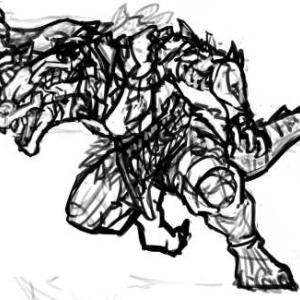 【厚塗り】人型のドラゴン【メイキング】