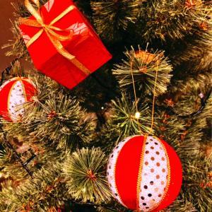 クリスマスハンドメイドオーナメント②和風プレゼントボックス