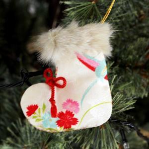 クリスマスハンドメイド和風オーナメント④長靴