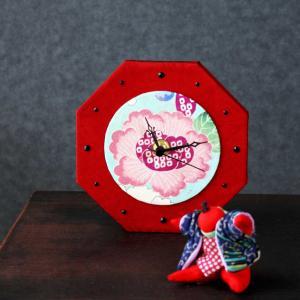 古布で創るカルトナージュ 時計