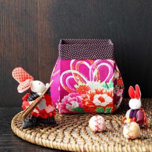 着物カルトナージュ 魚籠(びく)型の箱