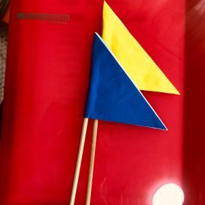 旗のお稽古スタート