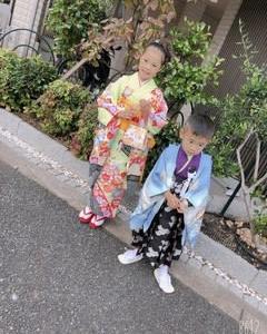 七五三おめでとうございます☆7歳女児祝い着&4歳男児羽織袴着のお客様です☆