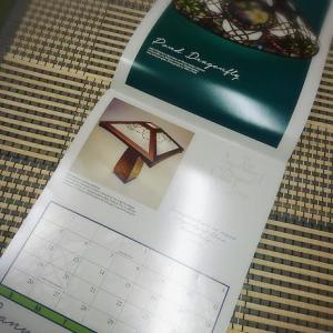 ステンドグラスカレンダーを頂戴しました~きれい~