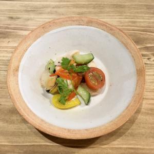 デリ&タパス ワラサンのオープニングレセプションの料理