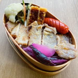 11/25 豚味噌漬け焼き弁当·餃子