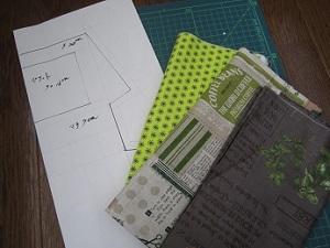 ファスナーポーチの型紙作り