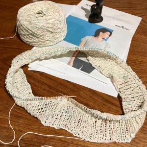 Mythica Fibers Rustic Silkで編む Whispers 1