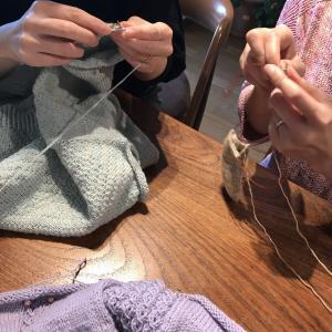 久々の更新です。だいぶまえの編み友会、ゴールデンウィークの過ごしかた