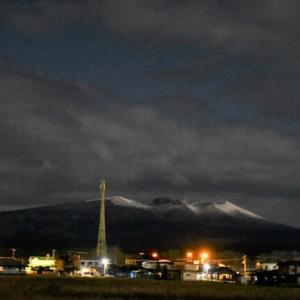 夜の活火山