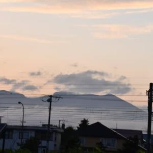 黄昏の樽前山