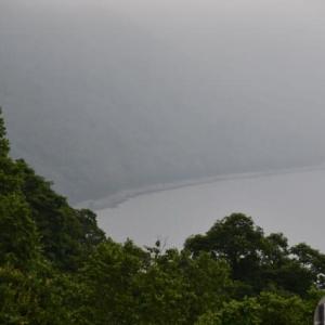 支笏湖が…白いベールに覆われた!