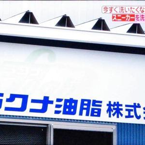 がっちりマンデー!ラクナ油脂はスニーカー専用洗剤で1億円